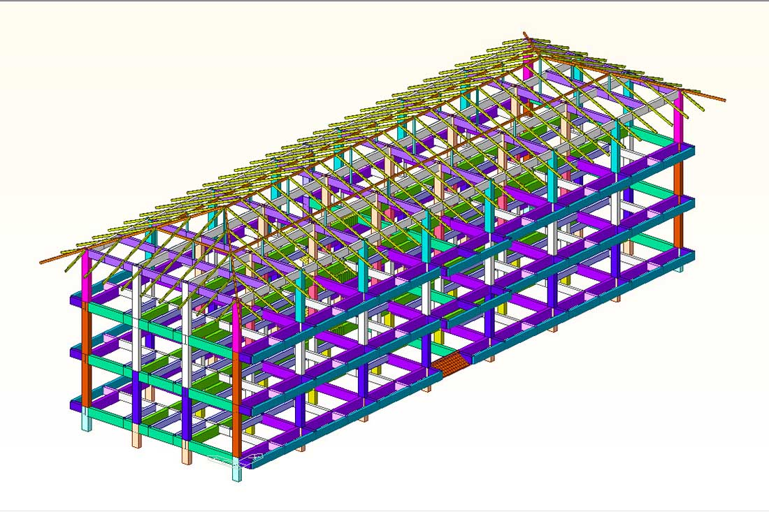 วิเคราะห์โครงสร้างอาคารพัก 3 ชั้น