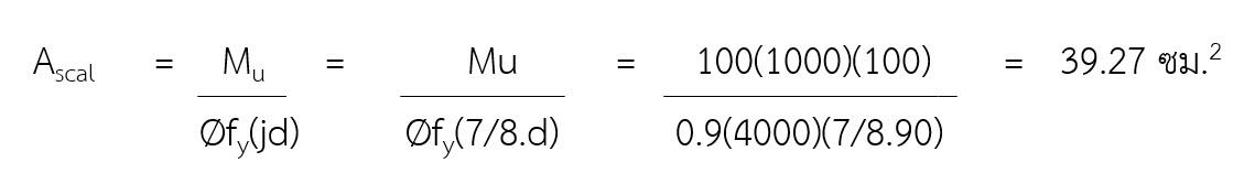 สูตรหาปริมาณเหล็กเสริมต้านแรงดัด